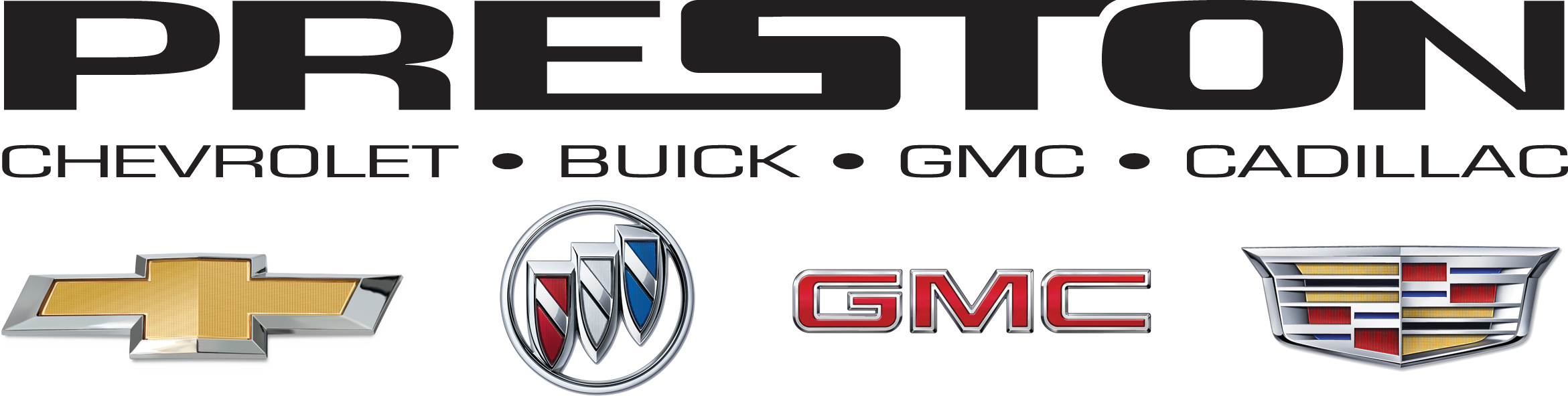 Preston Logo 2019 w GM Brand Badges PNG